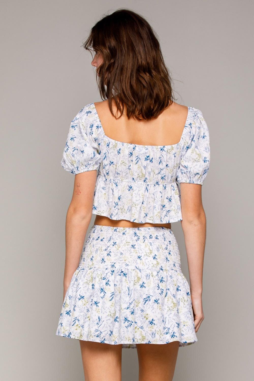 Theresa Floral Smocked Skirt