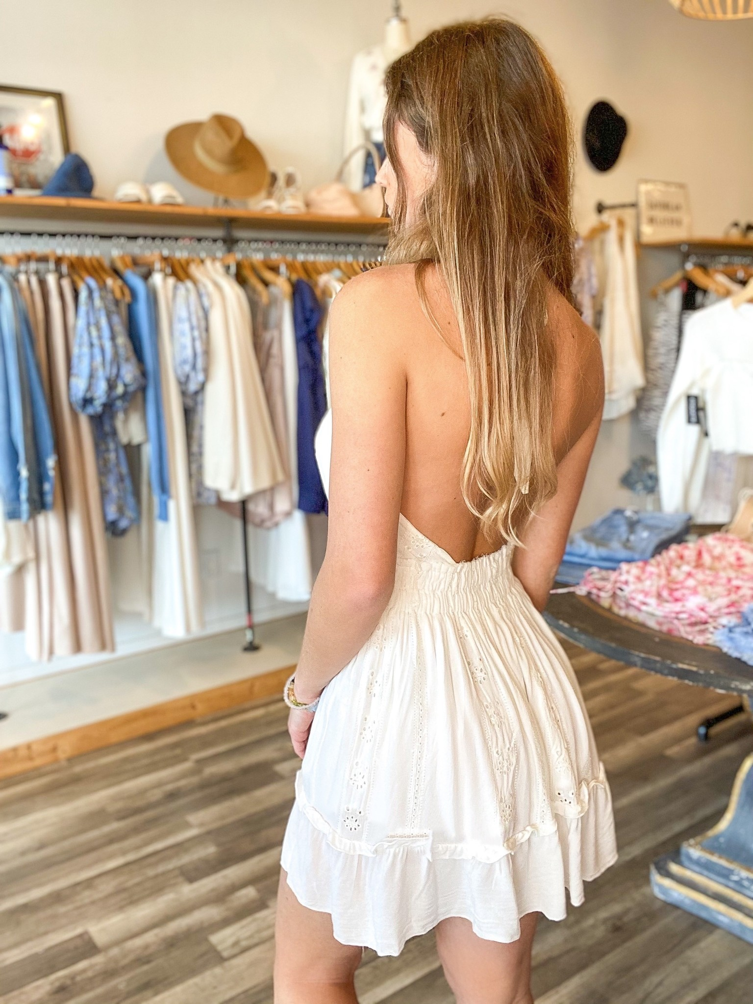 Natalia Halter Dress