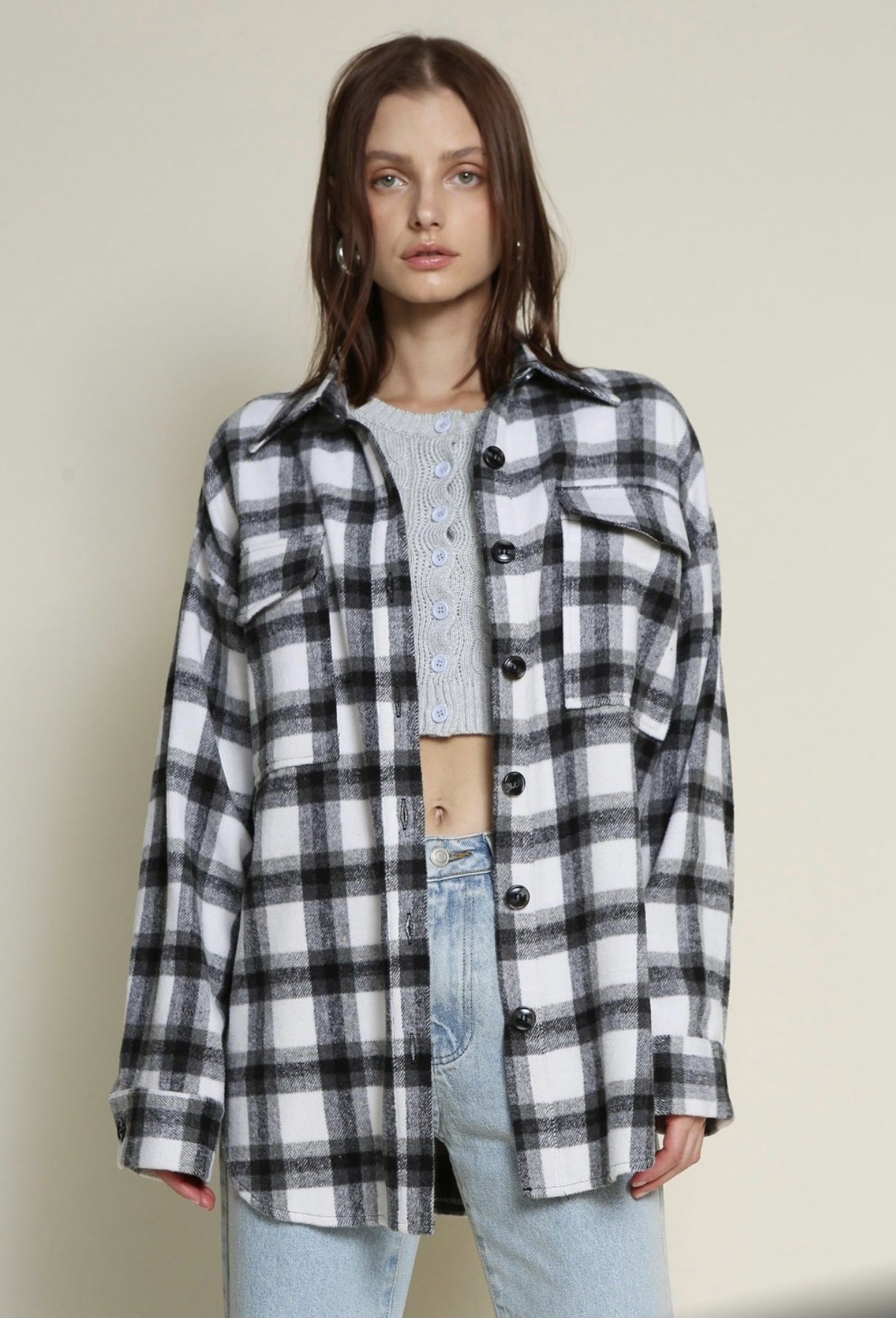 Deja Plaid Shacket