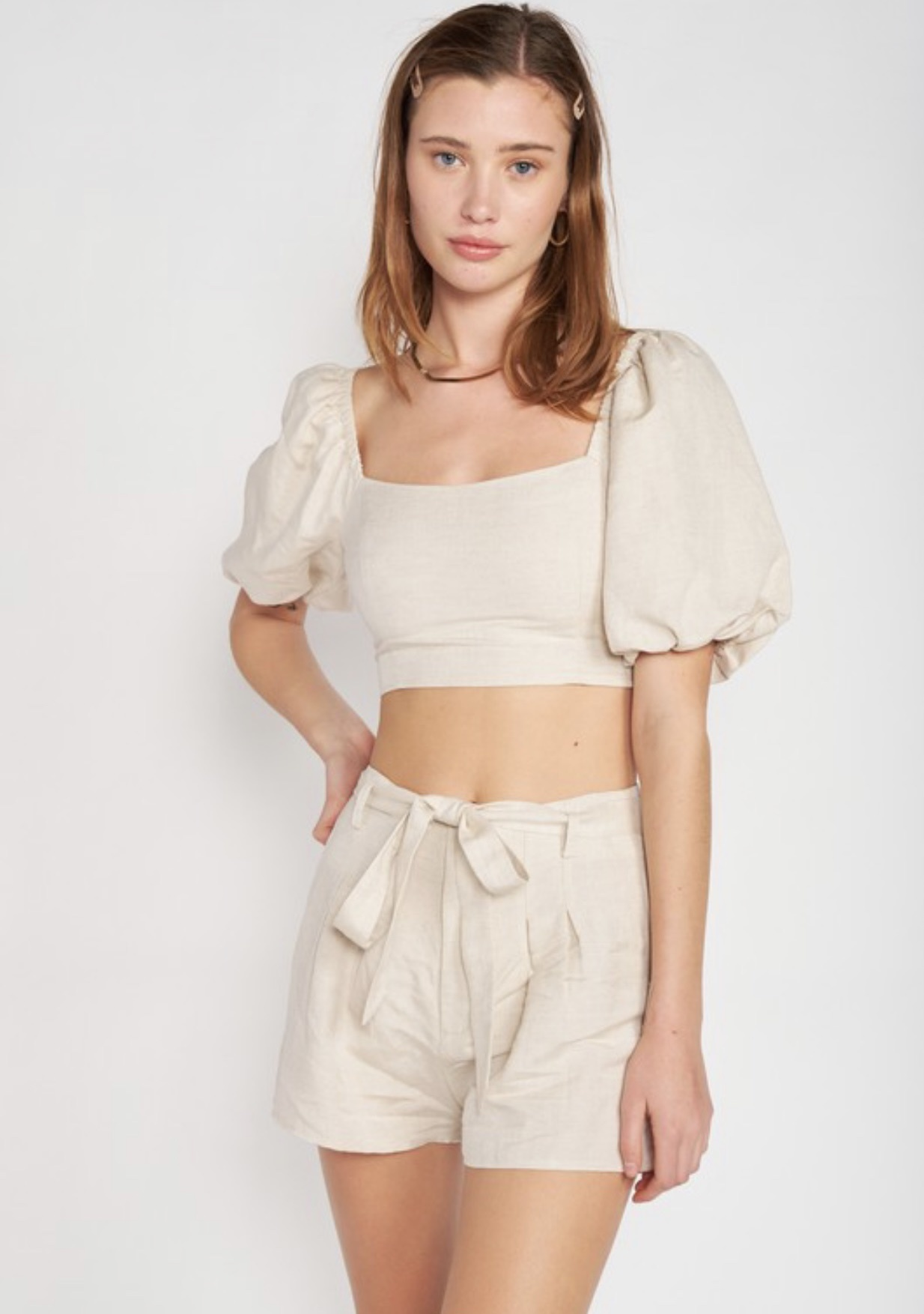 Addison Crop Woven Top