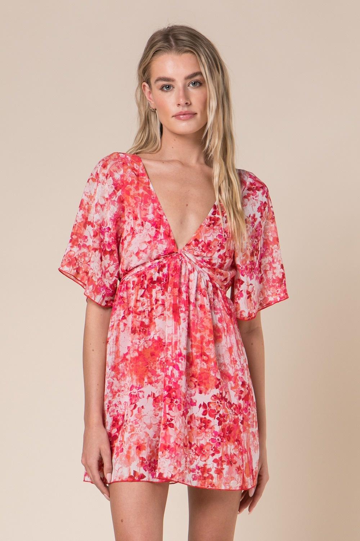 Scarlet Floral Dress