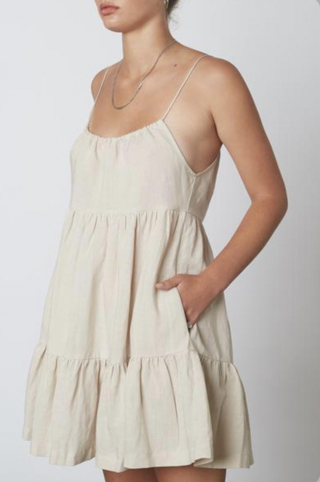 Rae Linen Babydoll  Dress