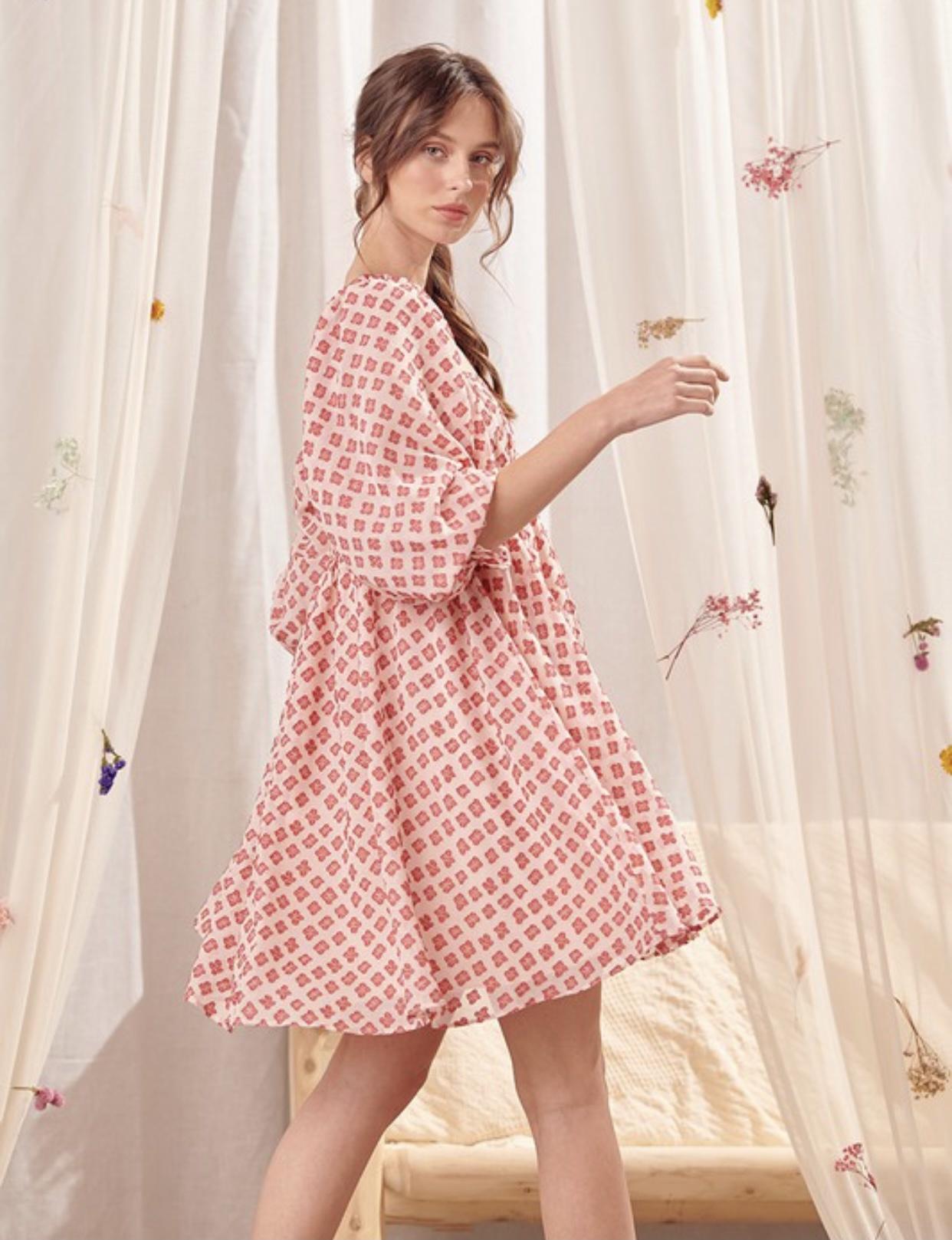 Cottage Geo Dress