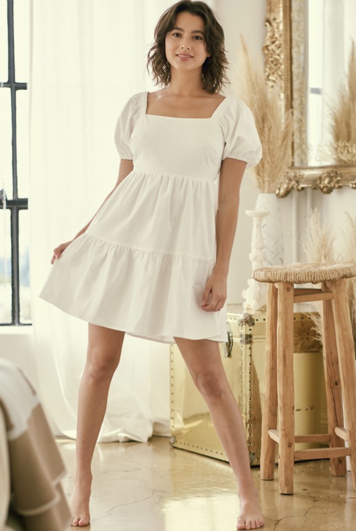 Elena Linen Dress