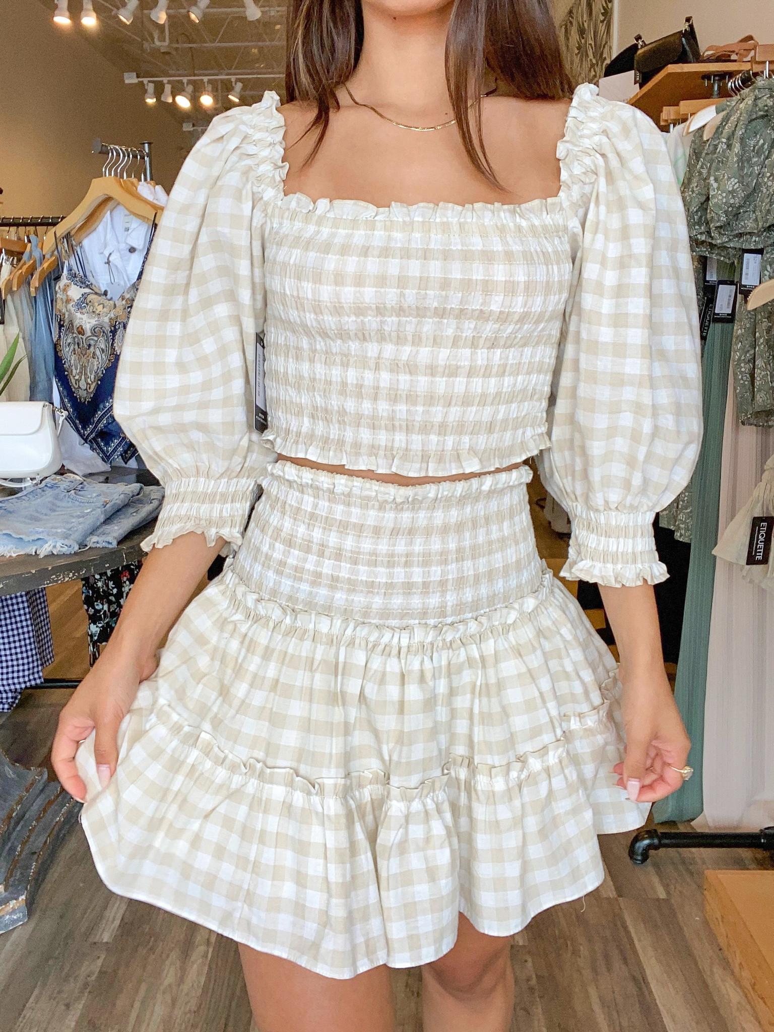 Kaia Check Skirt