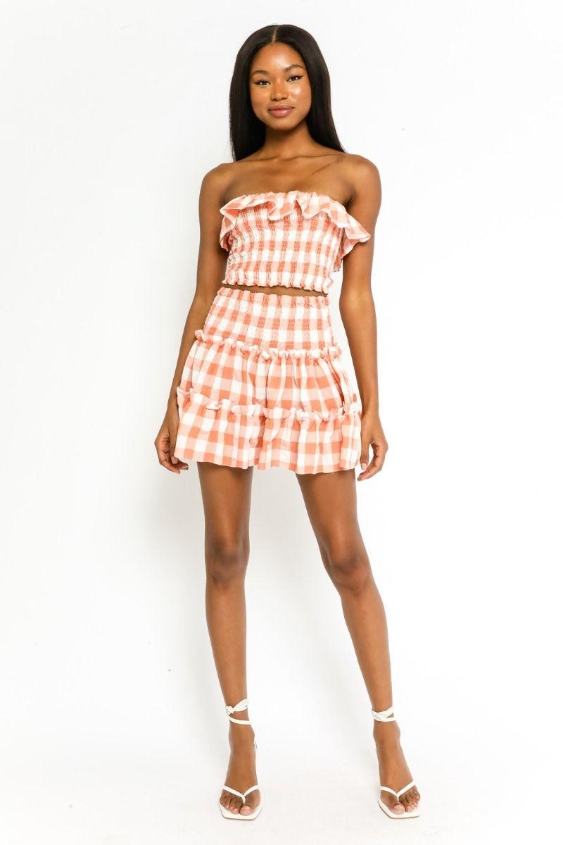 Phoebe Gingham Skirt