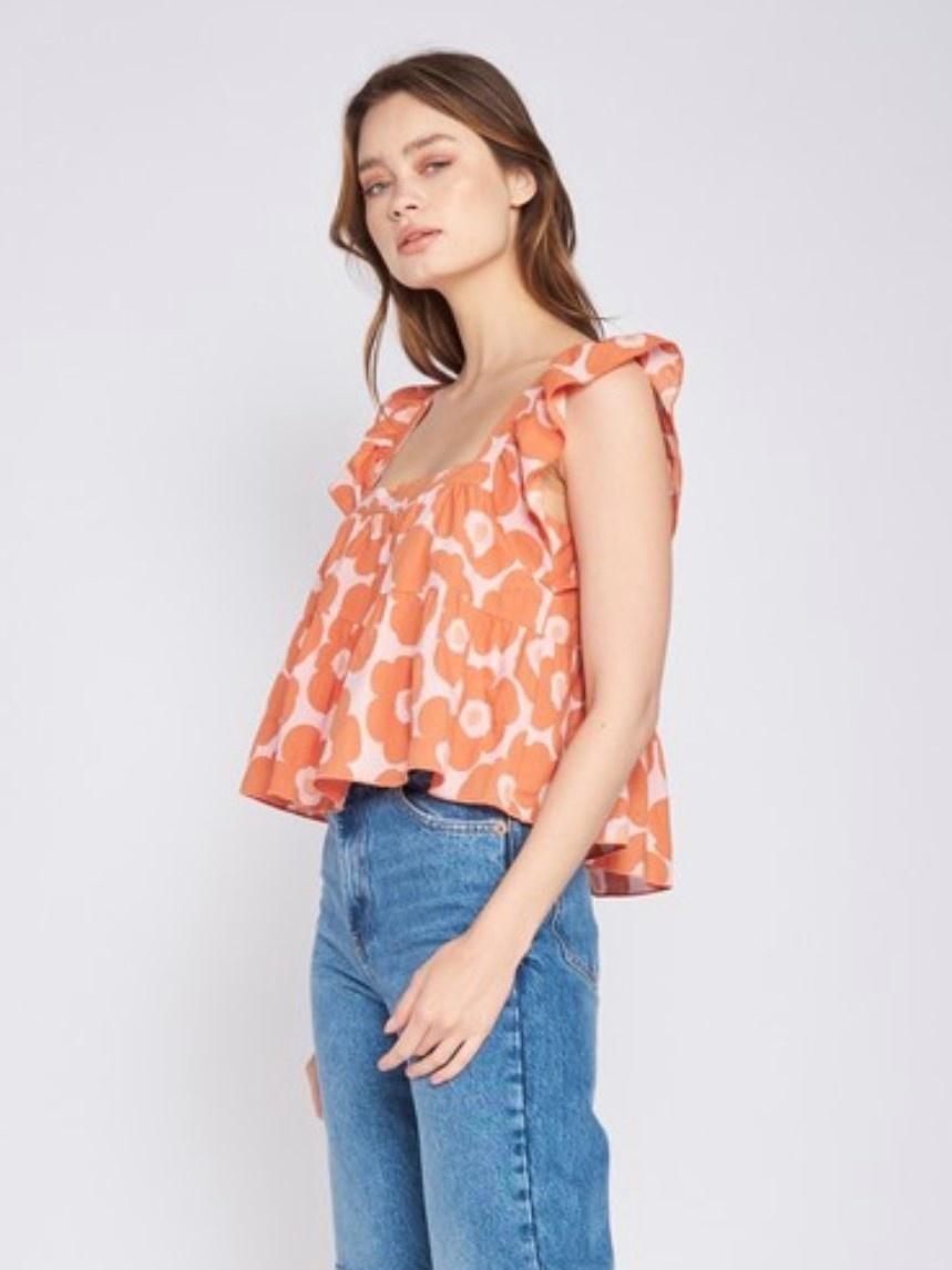 Mari Floral Top