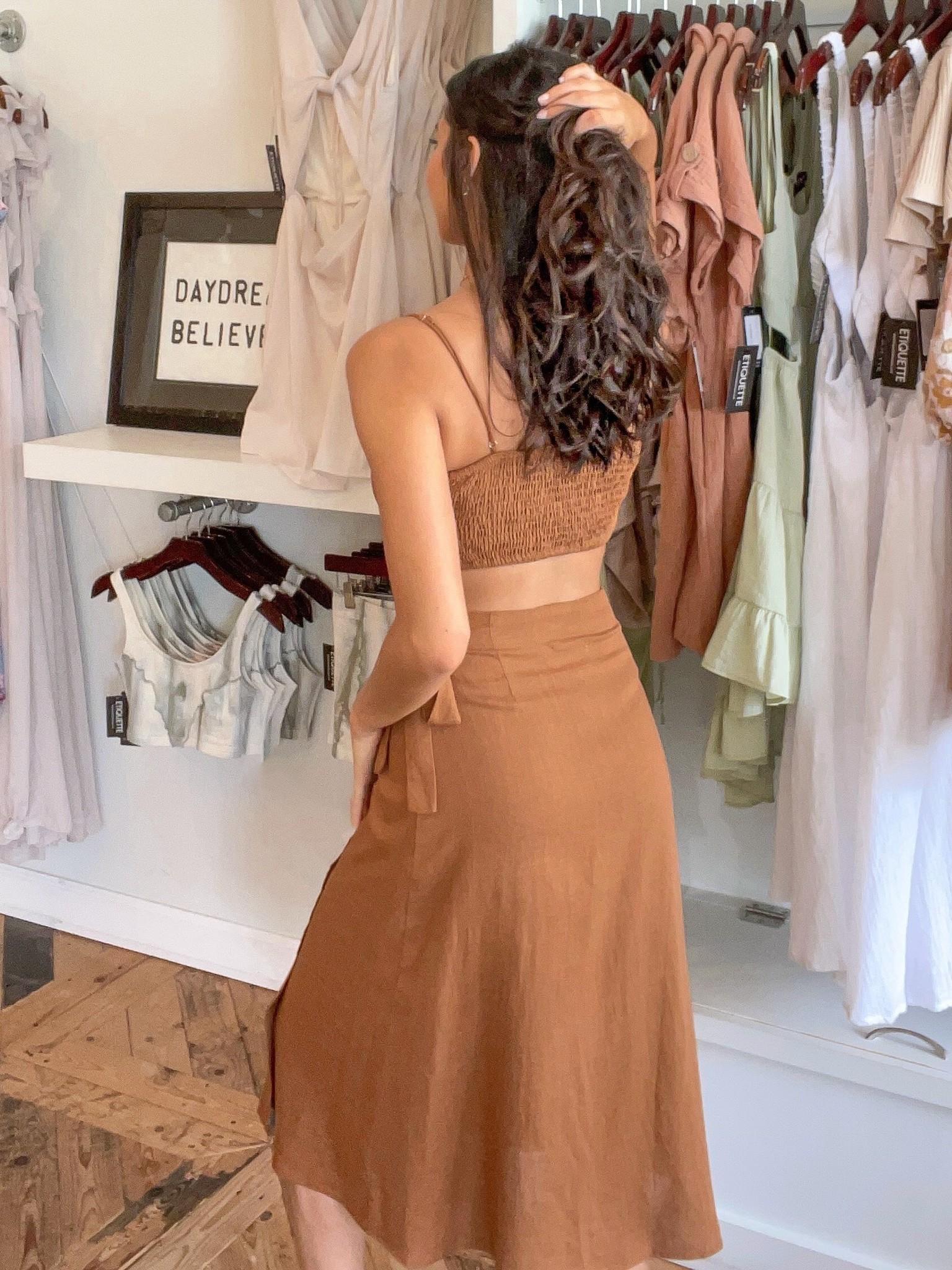 Sun Bronzed Tie Bralette