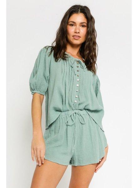 Cool Seas Linen Shorts