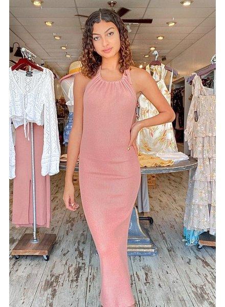 Alma Knit Halter Dress
