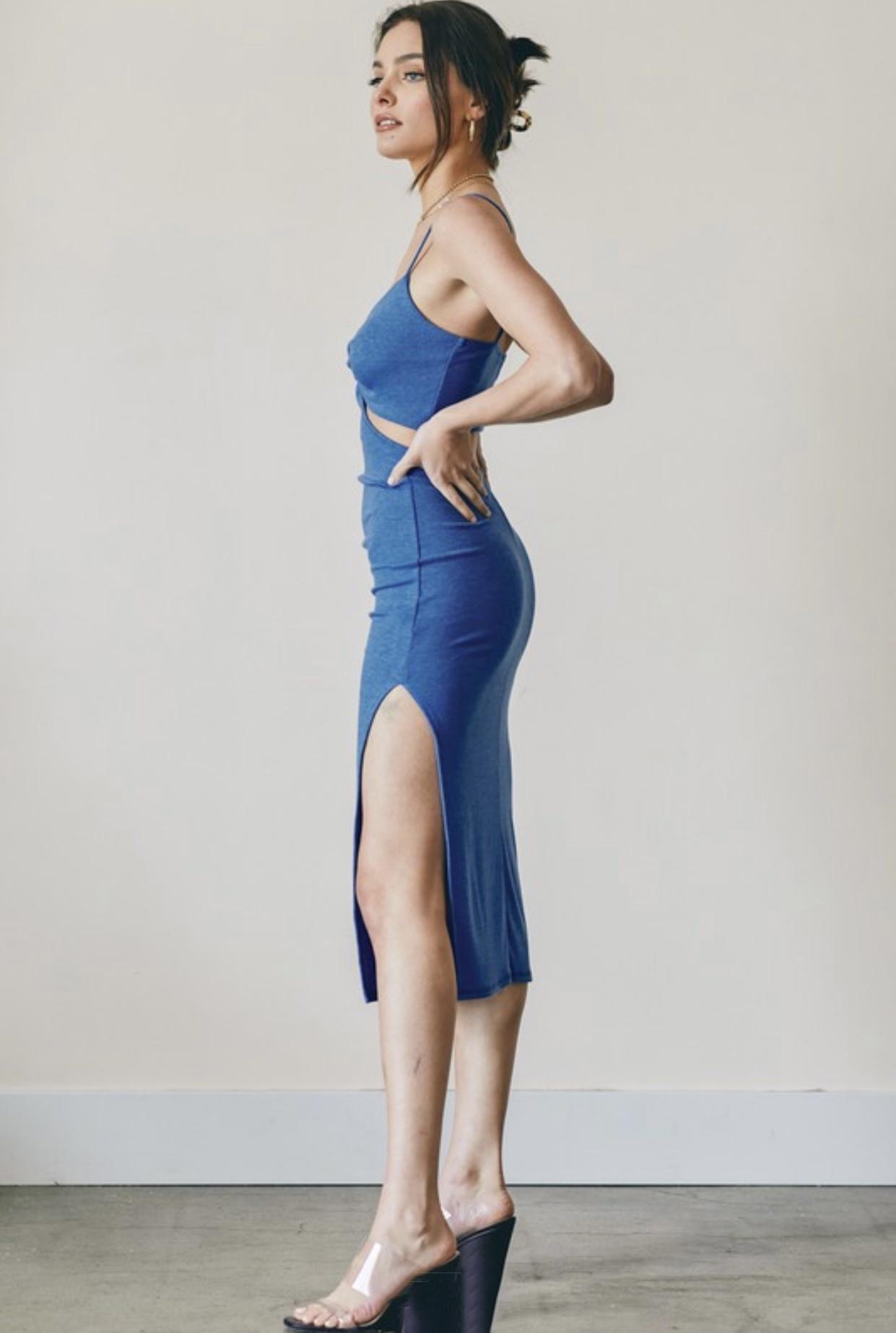 Simone Cut-Out Midi Dress
