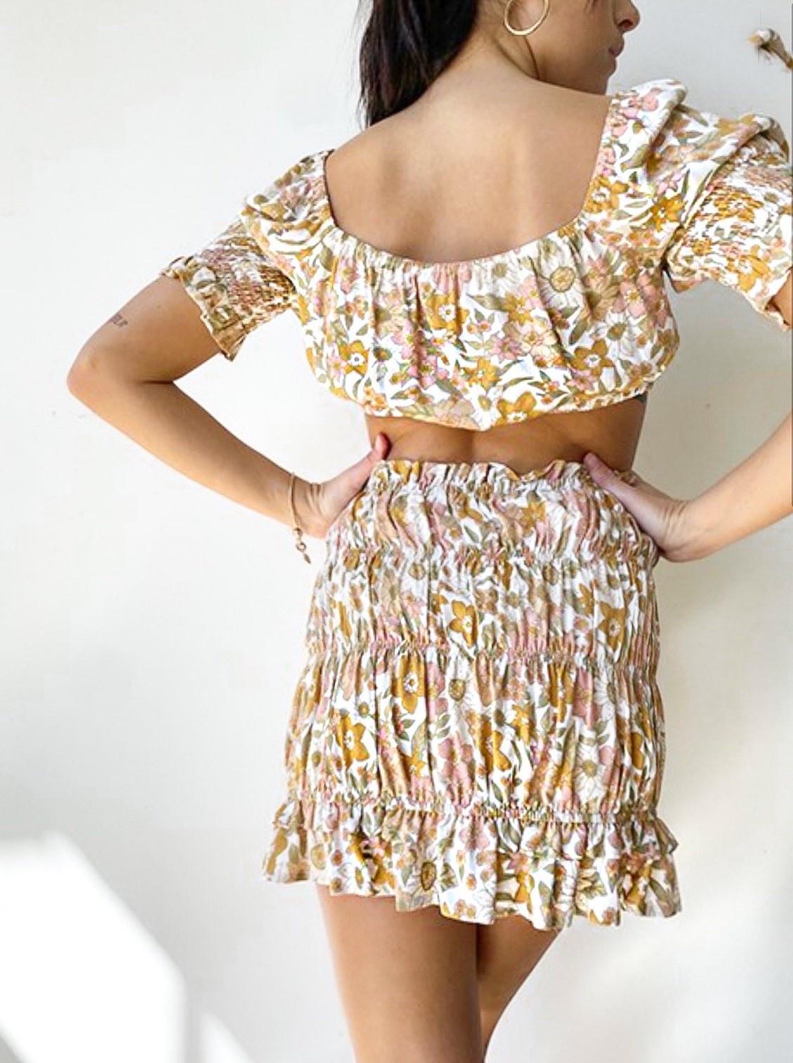 Flora Smocked Skirt