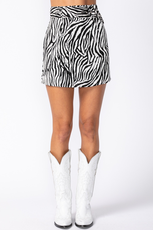 Savannah Zebra Mini Skirt