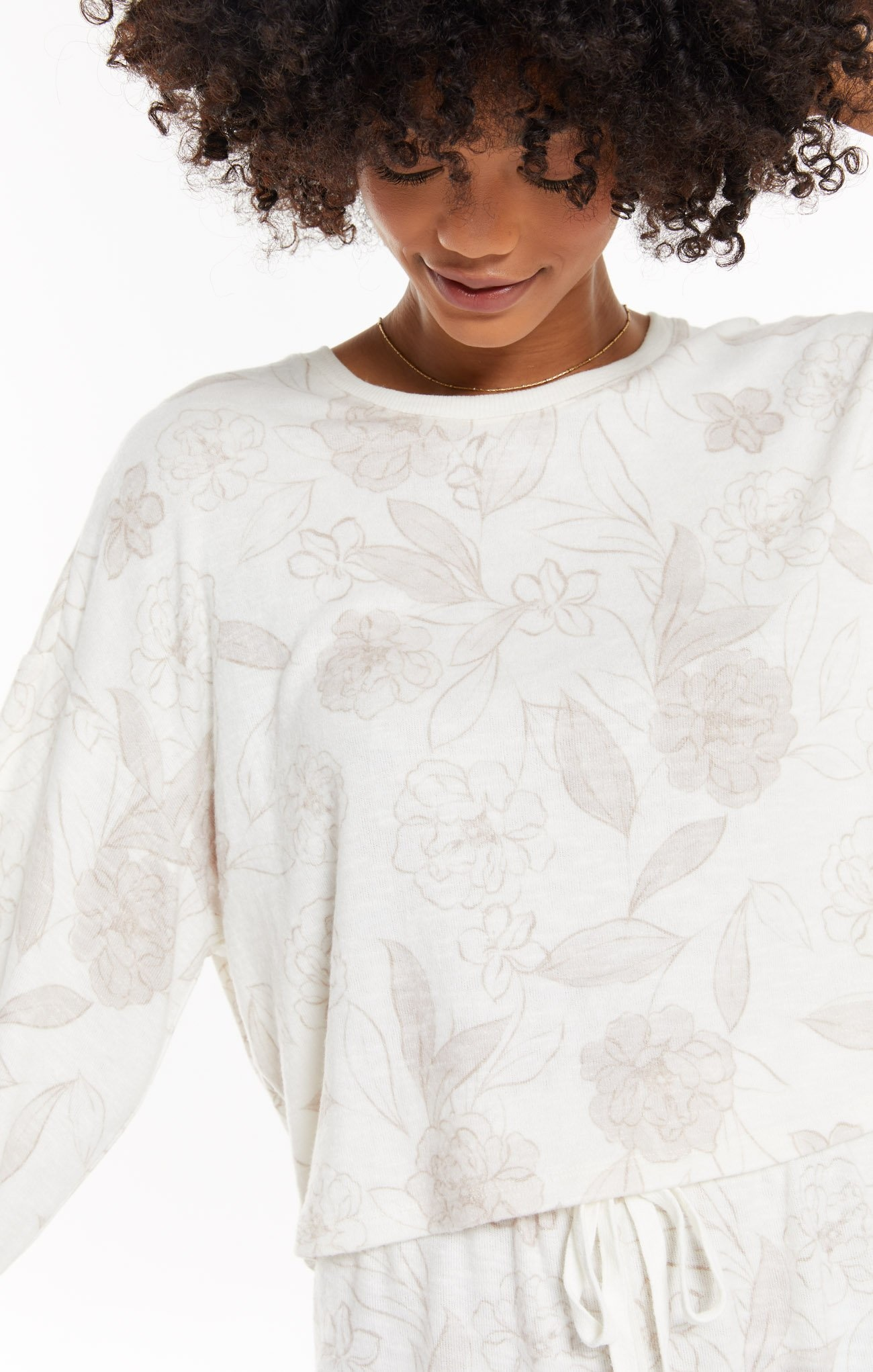 Lina Floral Pullover