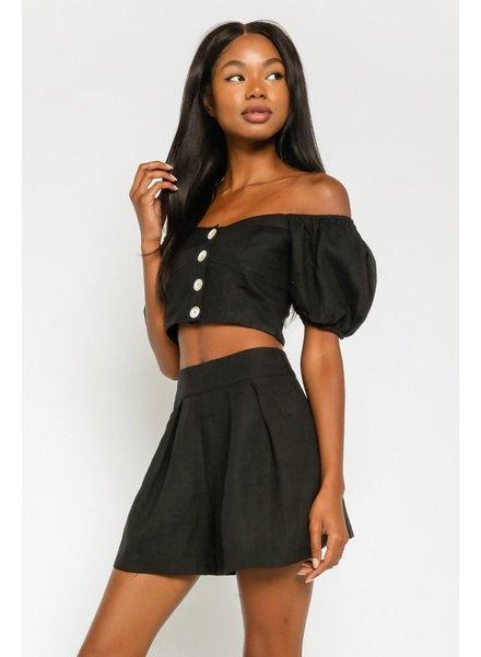 Lagos Linen Blend Shorts