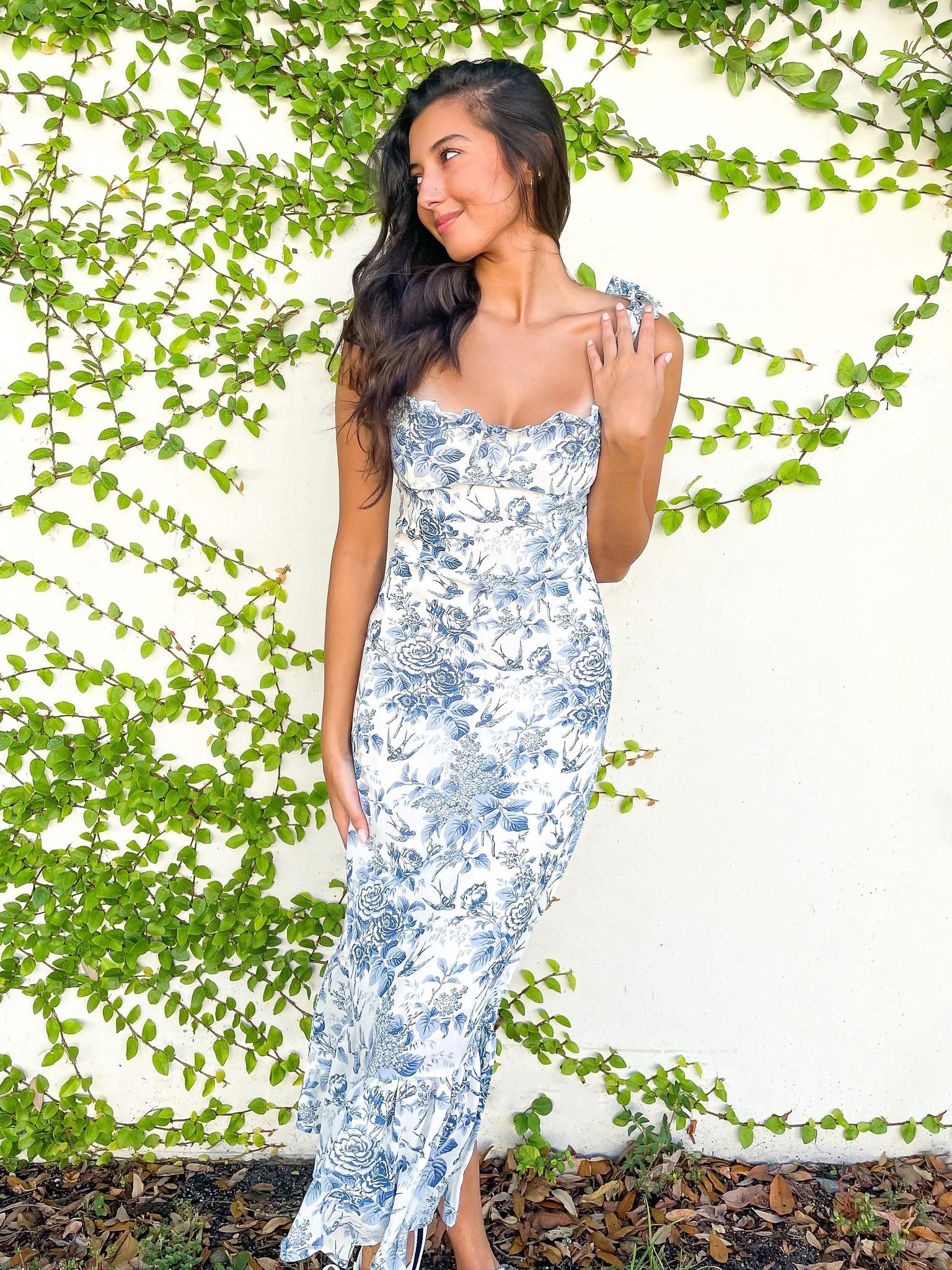 Charlotte Floral Midi Dress