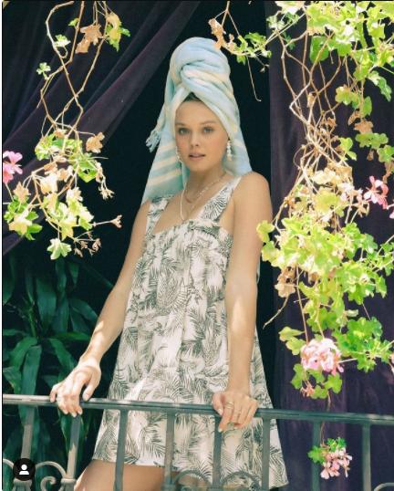 Sprawling Palms Swing Dress