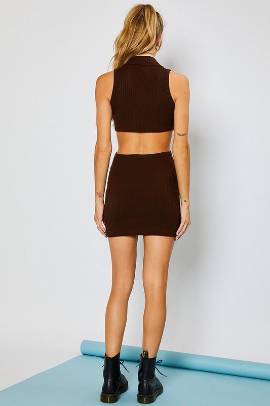 Halley Cut-out Mini Dress