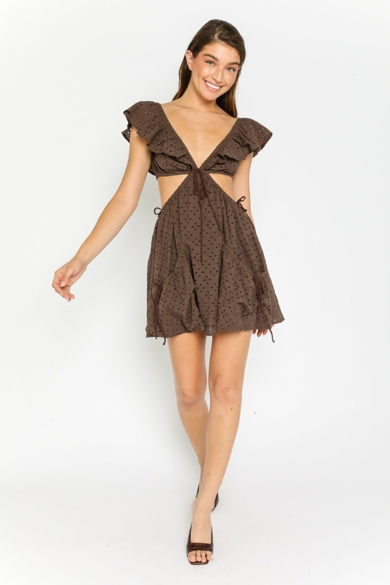 Taja Eyelet Cut-Out Dress