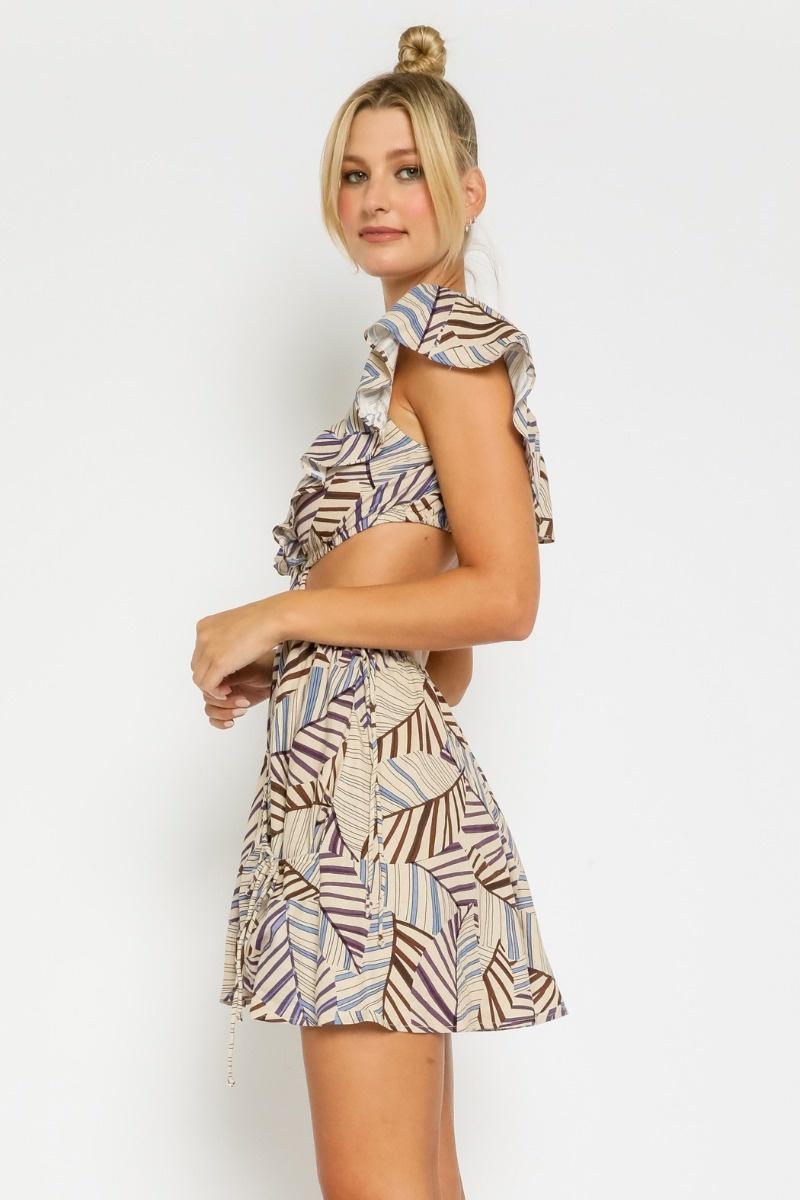 Tulum Linen Cut-Out Dress