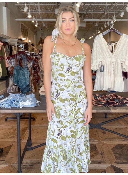 Amelia Floral Midi Dress
