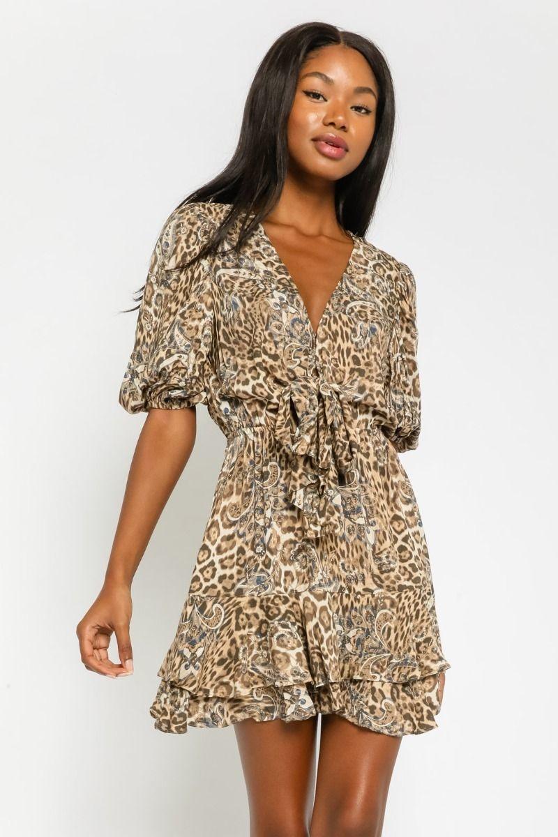 Brigitte Leopard Dress