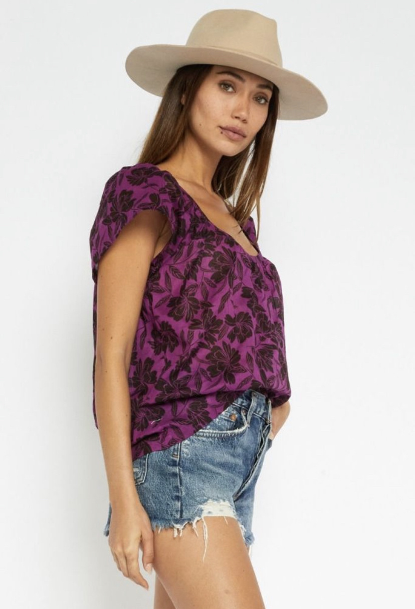 All The Floral Vibes Boxy Top