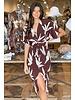 Mocha Palm Midi Dress