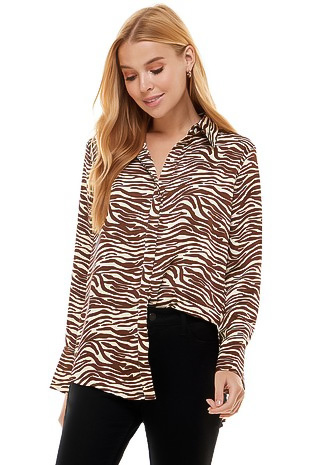 Toasted Zebra Button-Up