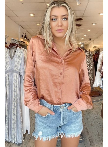 Elevated Satin Button-Up