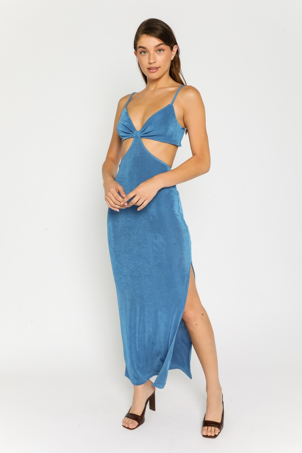 Into The Blue Cut-Out Midi Dress