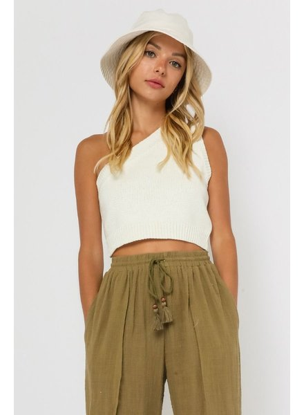 Tai One Shoulder Knit Top