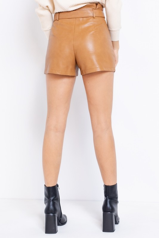 Elle Vegan Leather Shorts