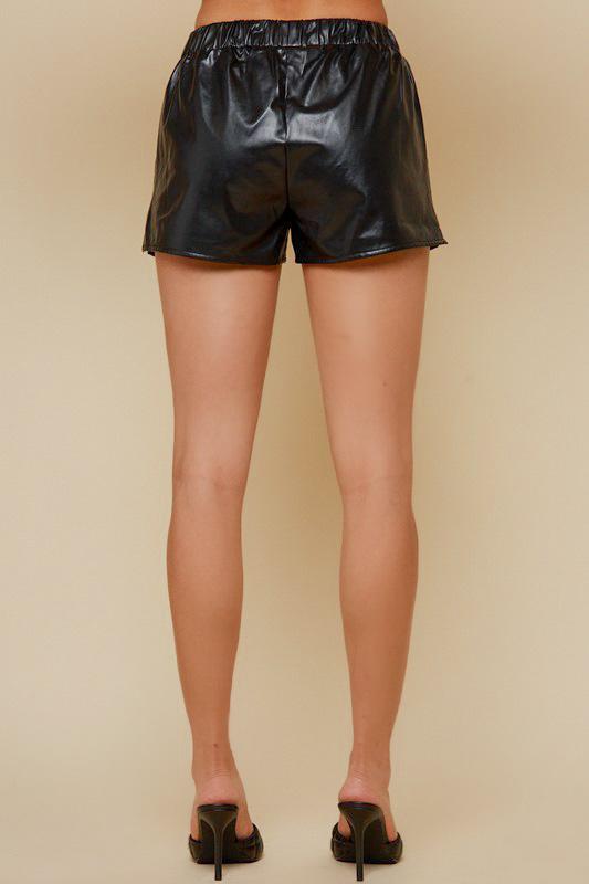 Essential Vegan Leather Shorts
