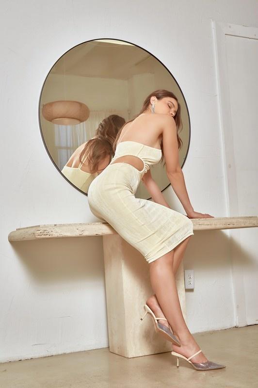Ariana Cut-Out Midi Dress