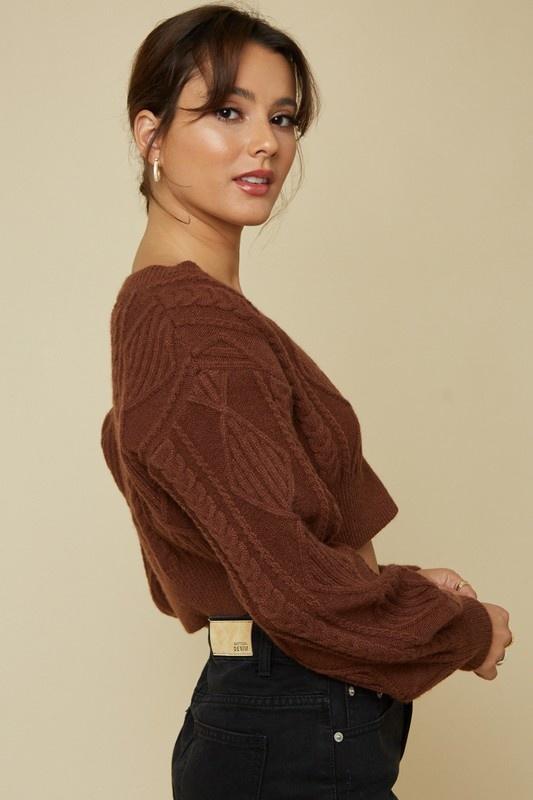 Chocolatte Cropped Sweater