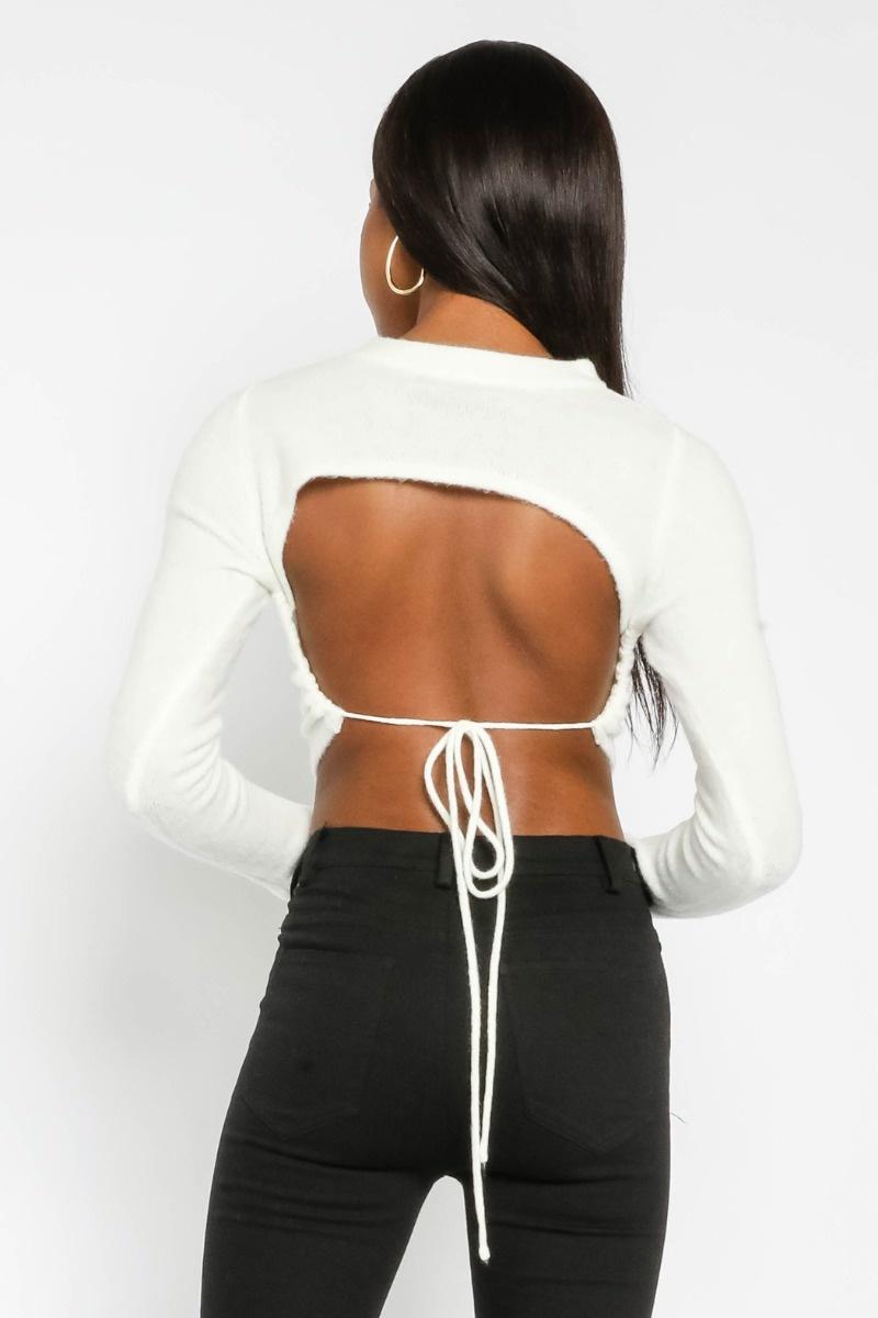 Cara Tie-Back Sweater