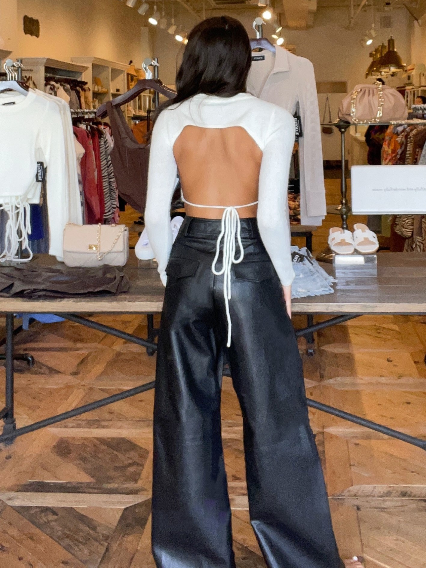 Limitless Faux Leather Trousers
