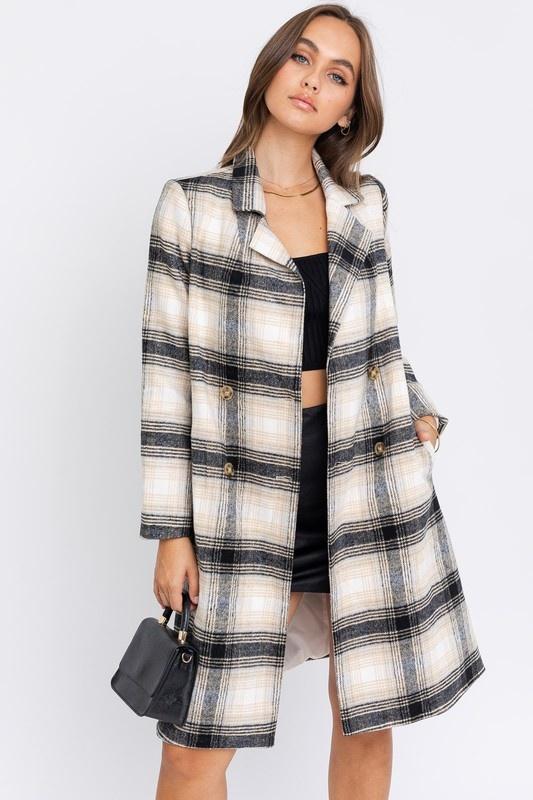 Cold Snap Plaid Coat