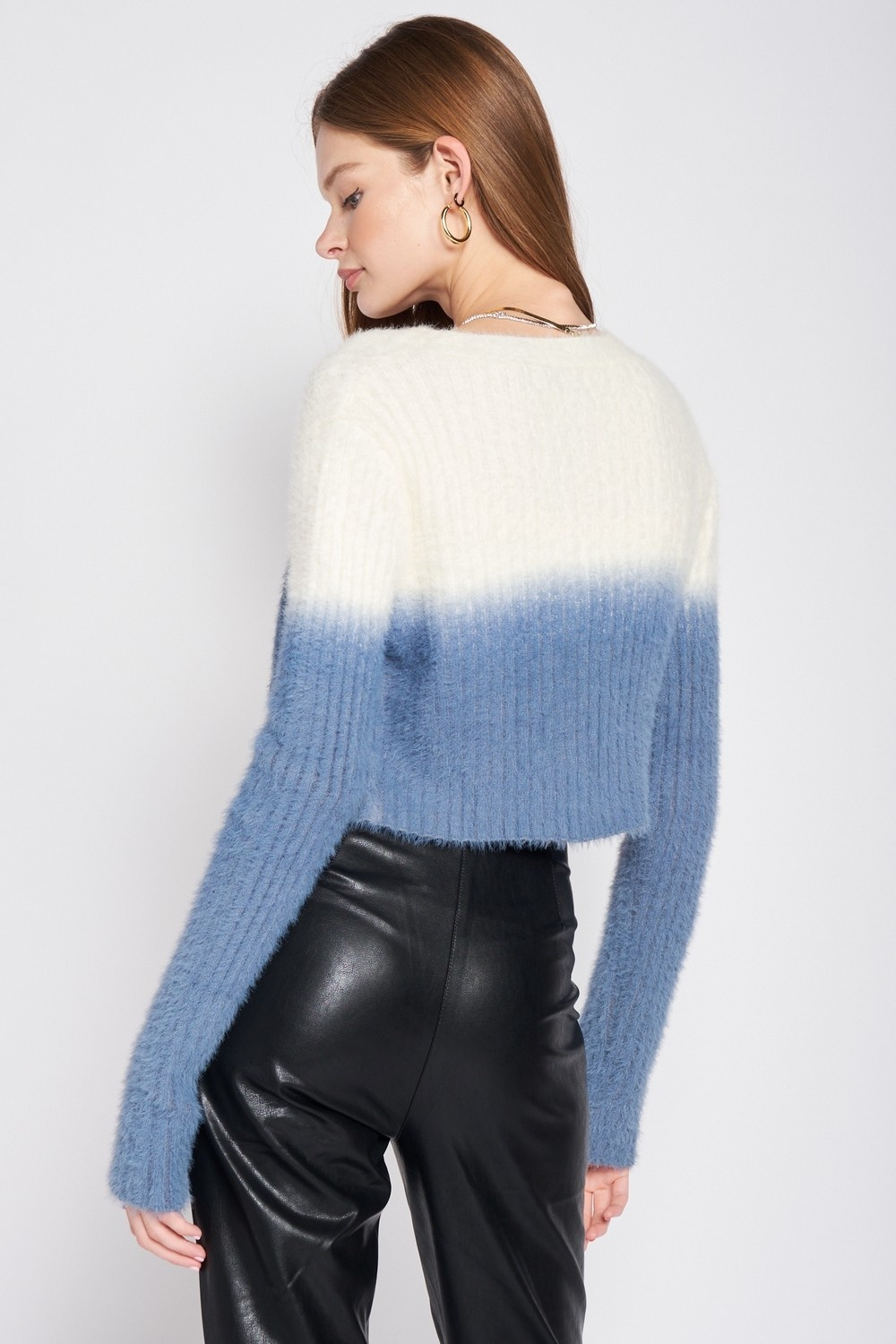 Haze Ombre Cropped Cardigan