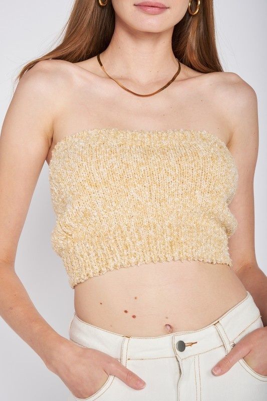 Keep Cozy Knit Tube Top