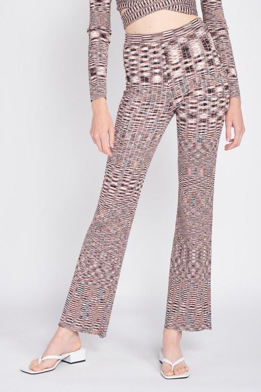 Pixelated Knit Pants