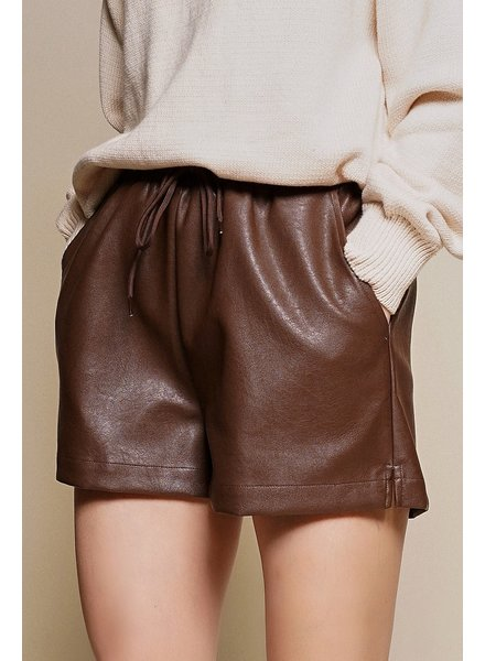 Dolce Faux Leather Shorts
