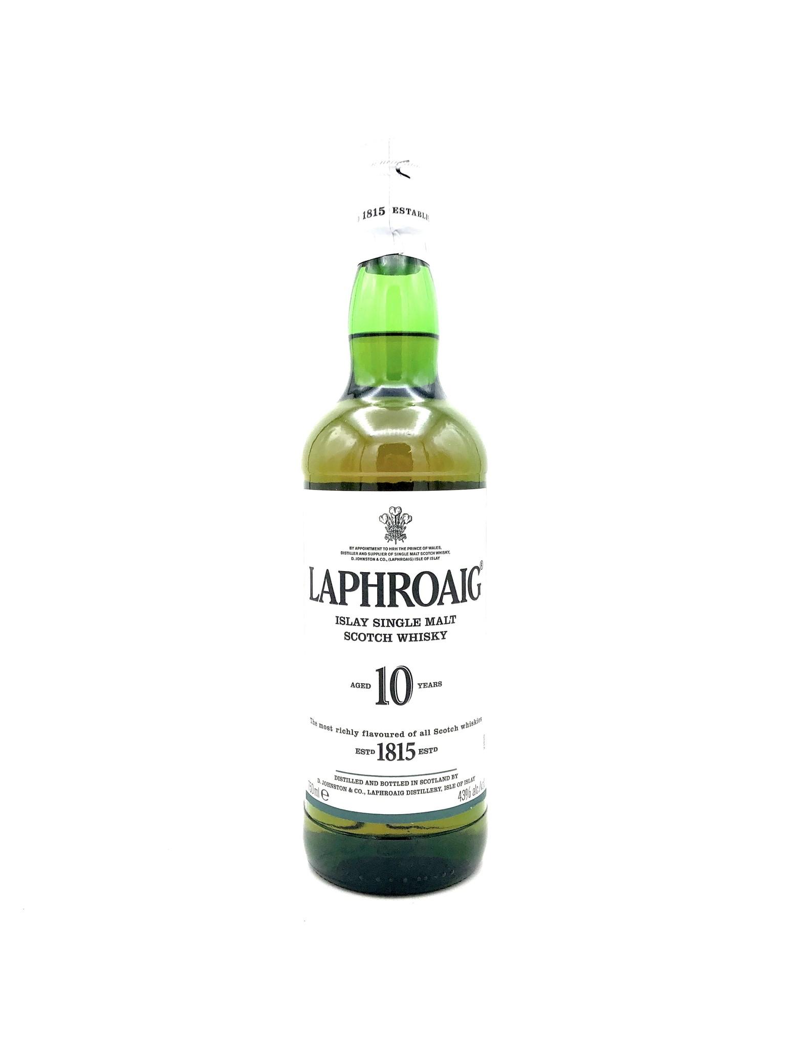 Single Malt Scotch 10 Year Laphroaig