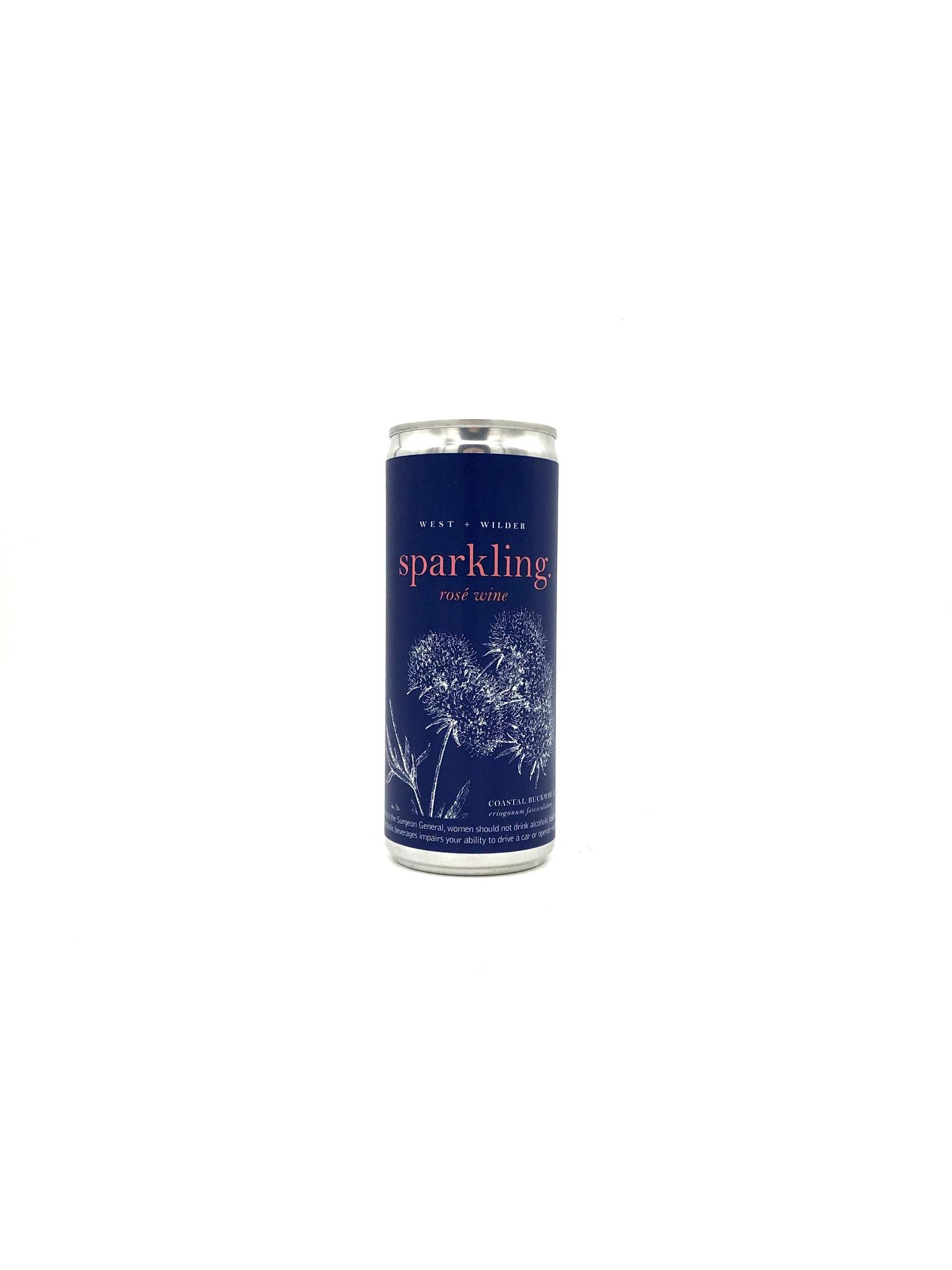 Sparkling Rosé (can) 250ml West + Wilder