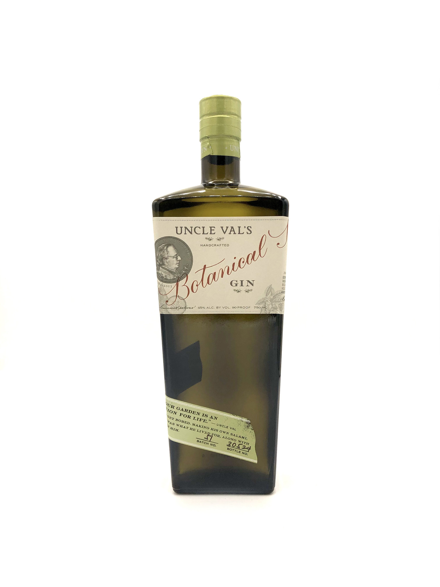 Botanical Gin 750ml Uncle Val's