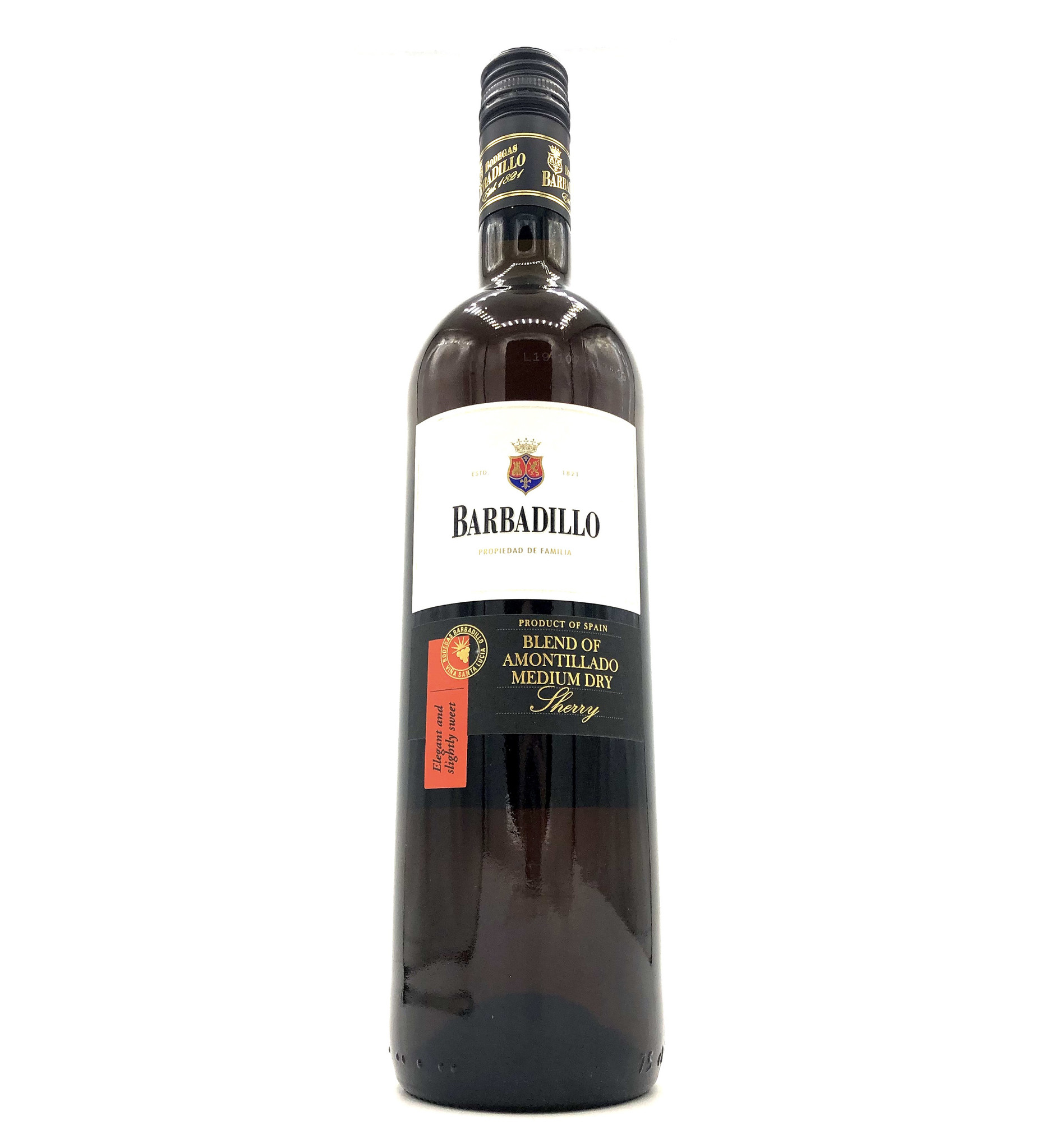 Amontillado Medium Dry NV 750ml Barbadillo