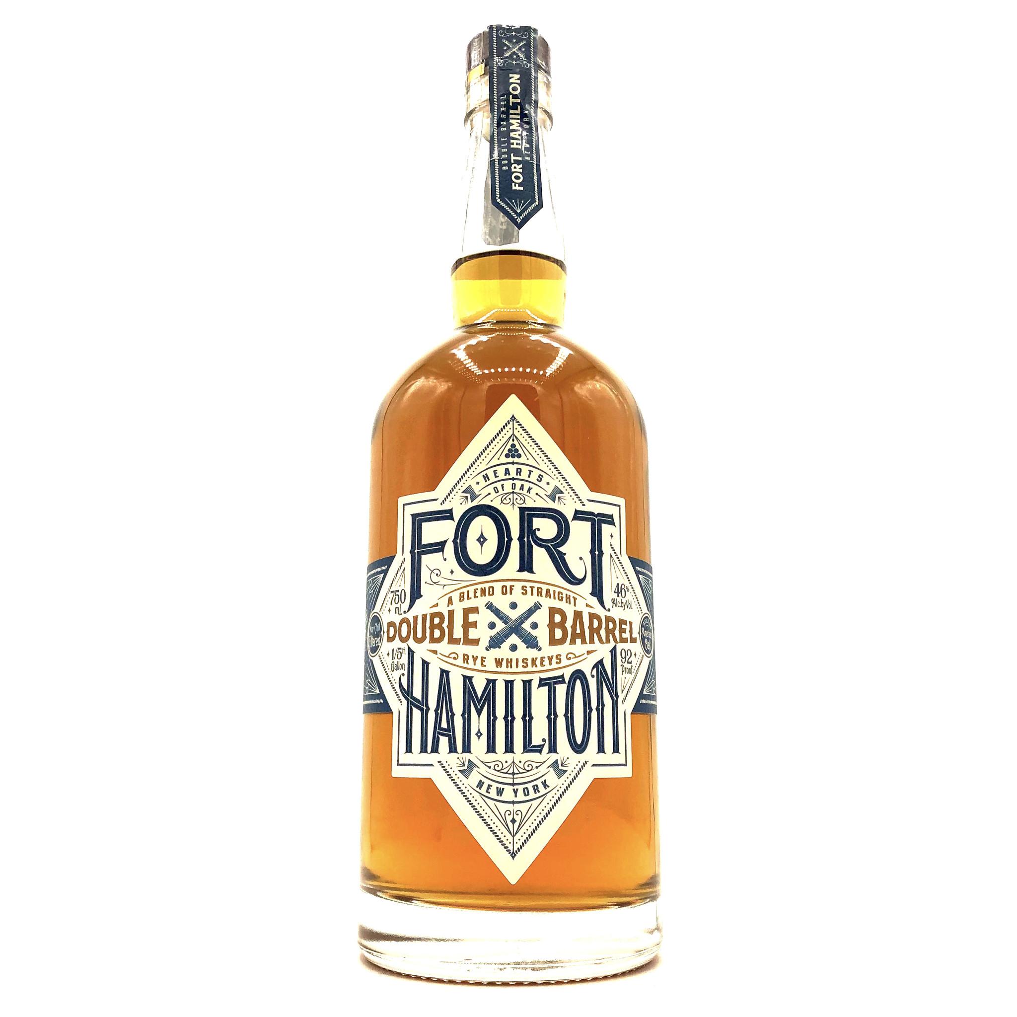 "Rye Whiskey ""Double Barrel"" Fort Hamilton"