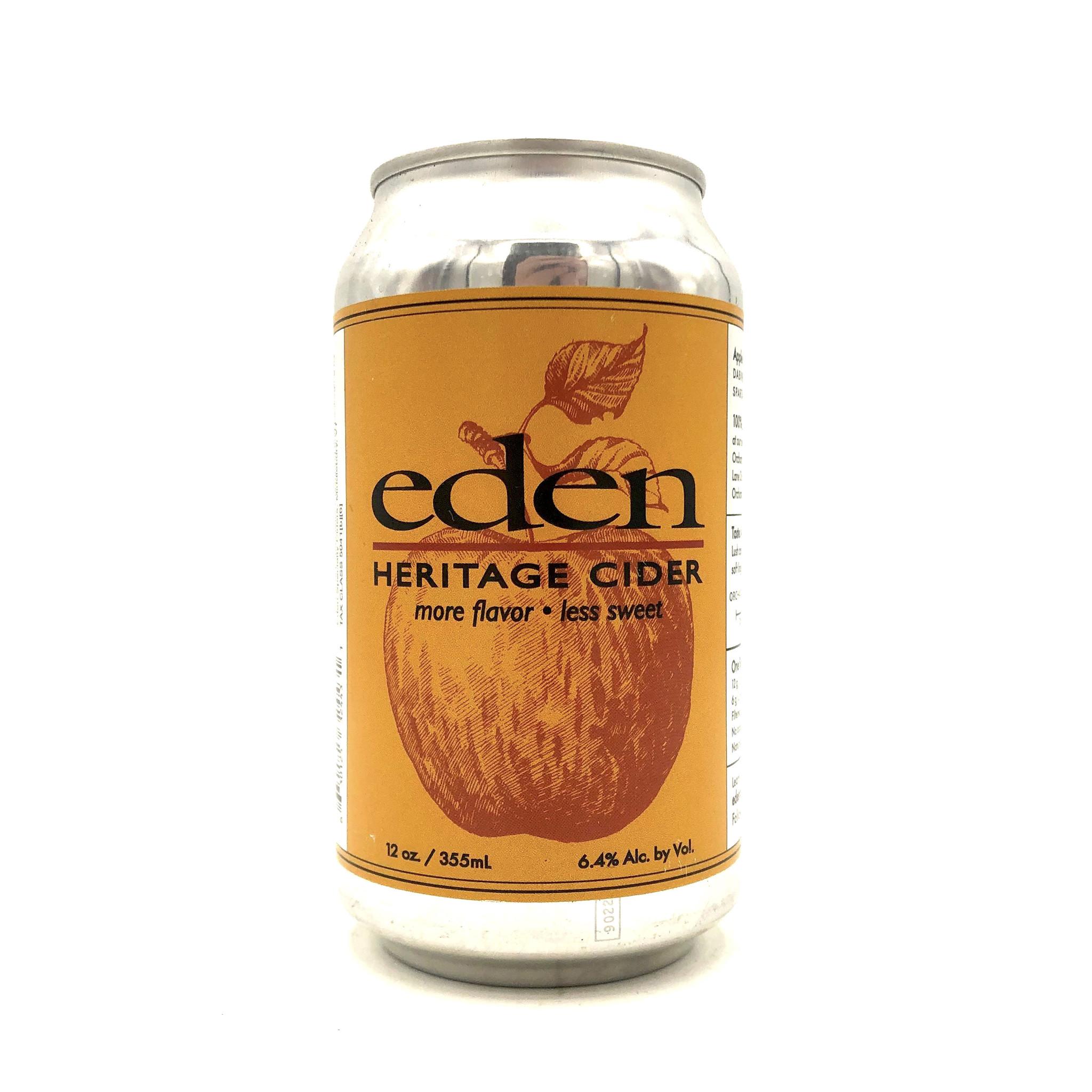 """Cider """"Heritage"""" 12oz (can) Eden Ciders"""