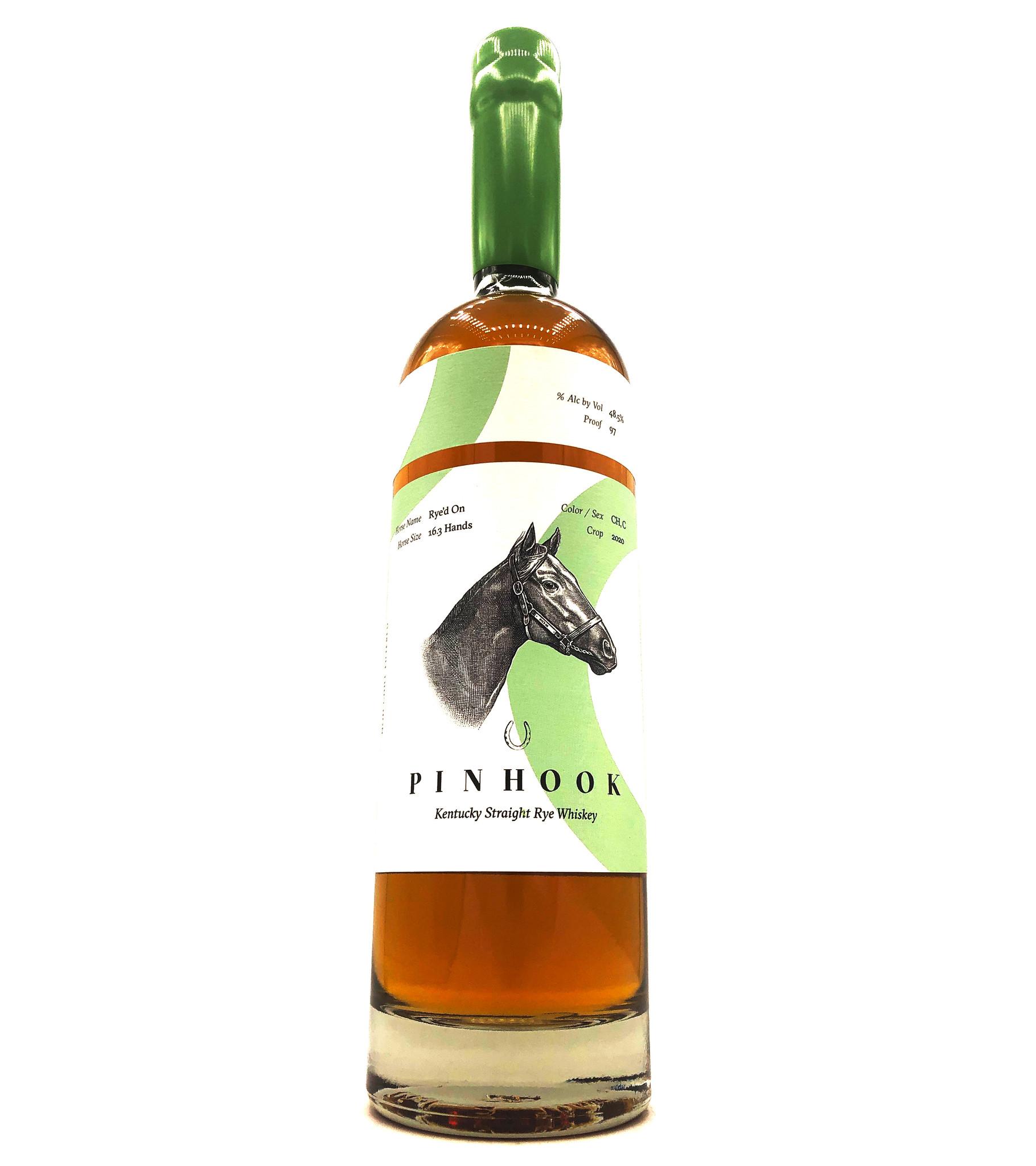 """Straight Rye Whiskey """"Rye'd On"""" 750ml Pinhook"""